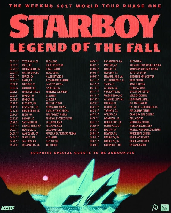 The Weeknd: 2017 World Tour Phase One