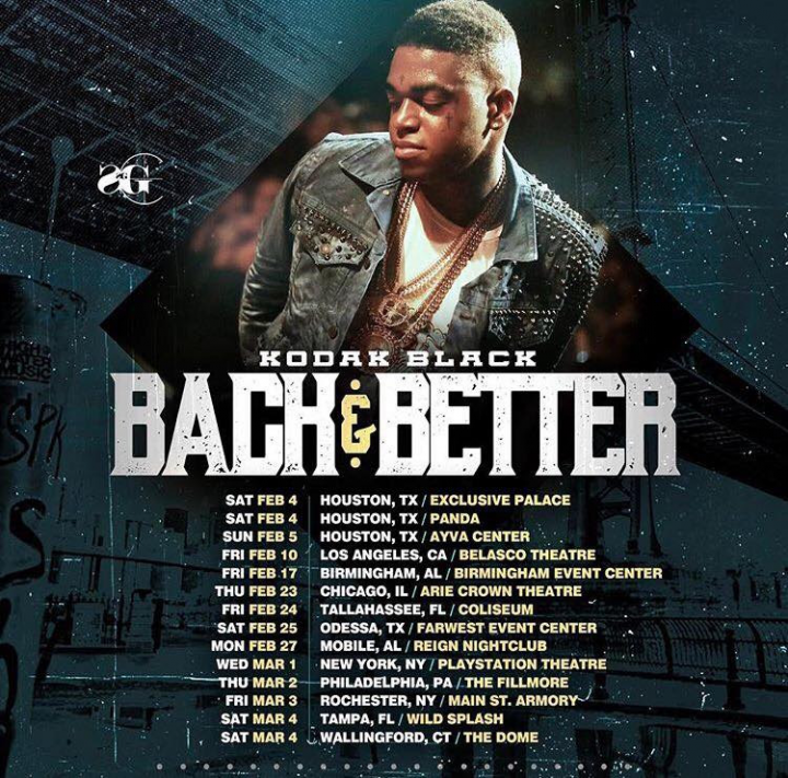 Kodak Black: Back & Better Tour