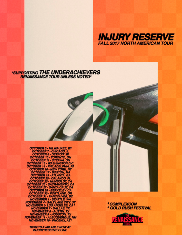 INJURY RESERVE Announce Fall Tour Dates