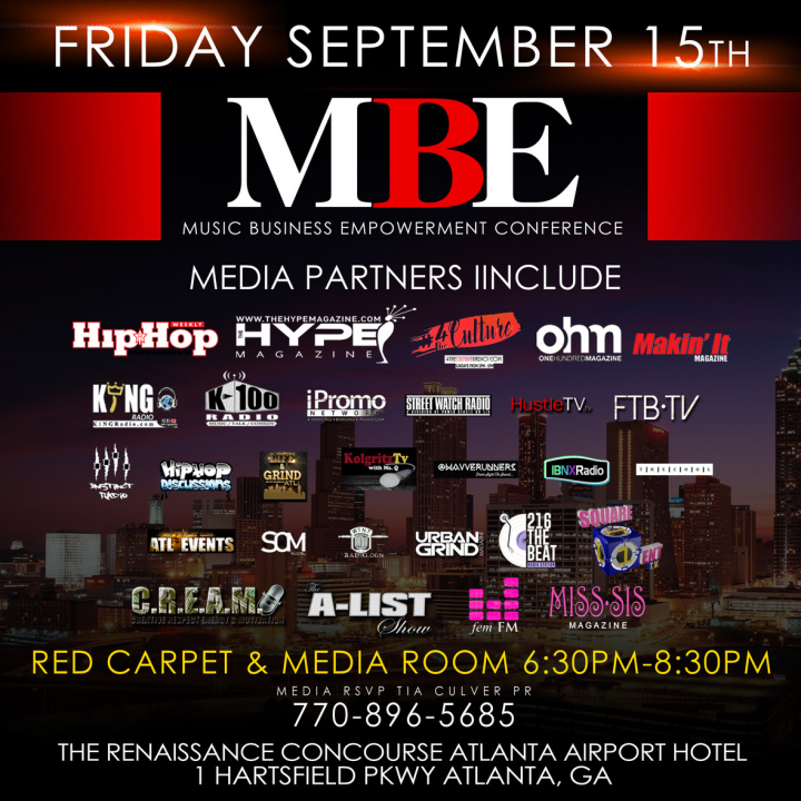 Music Business Empowerment Conference 2017 – Red Carpet & Media Room Friday Sept 15th 6:30pm -8:30pm