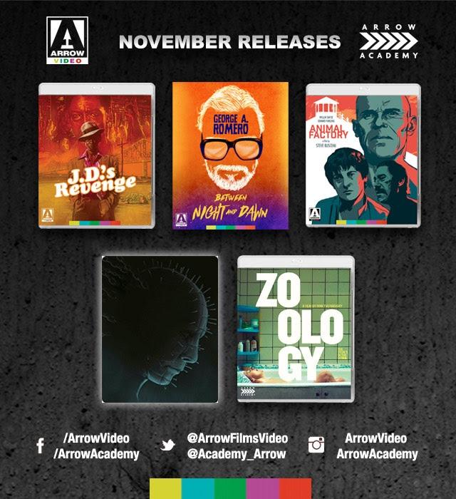 Arrow Video and Arrow Academy – November 2017 Release Schedule