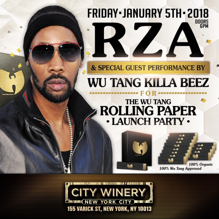 RZA / Wu Tang Rolling Papers (Launch Party)