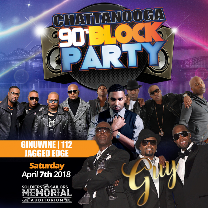 Chattanooga 90's Block Party ft. 112, Ginuwine, Jagged Edge & more