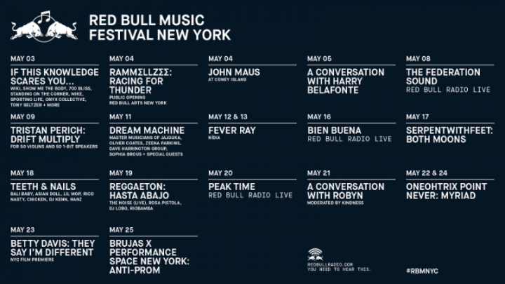 Robyn, Fever Ray, 0PN, Harry Belafonte, More for Red Bull Music Festival New York 2018
