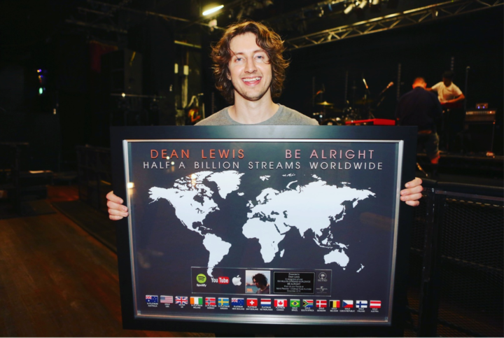 """DEAN LEWIS'  """"BE ALRIGHT"""" NOW RIAA CERTIFIED GOLD IN THE US, HITS HALF A BILLION STREAMS"""