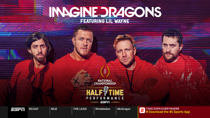 LIL WAYNE Joins as Special Guest for ESPN¹s College Football Playoff Halftime Performance Featuring Imagine Dragons