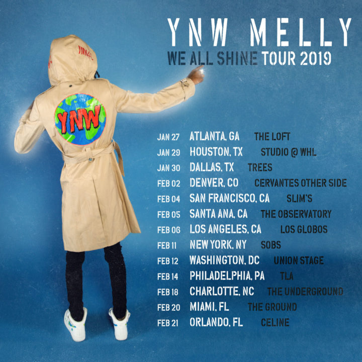 YNW Melly Announces New Project & Tour – WE ALL SHINE