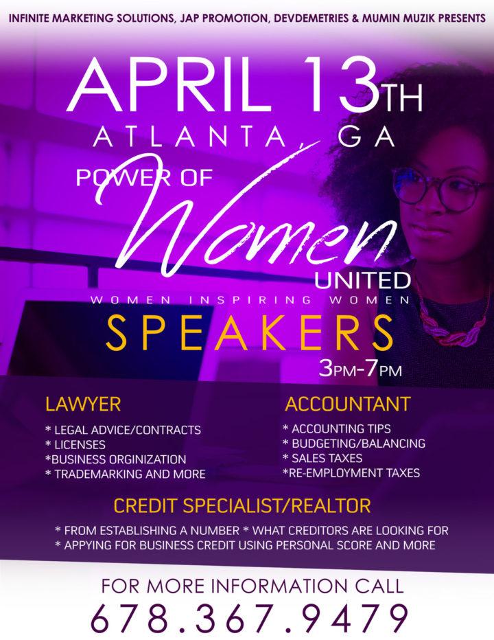 April 13th ~ Power of Women United ~ Women Inspiring Women in Business
