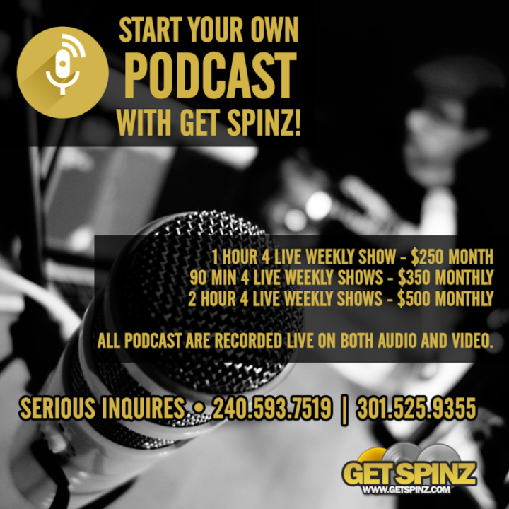 Get Spinz starts live podcasts