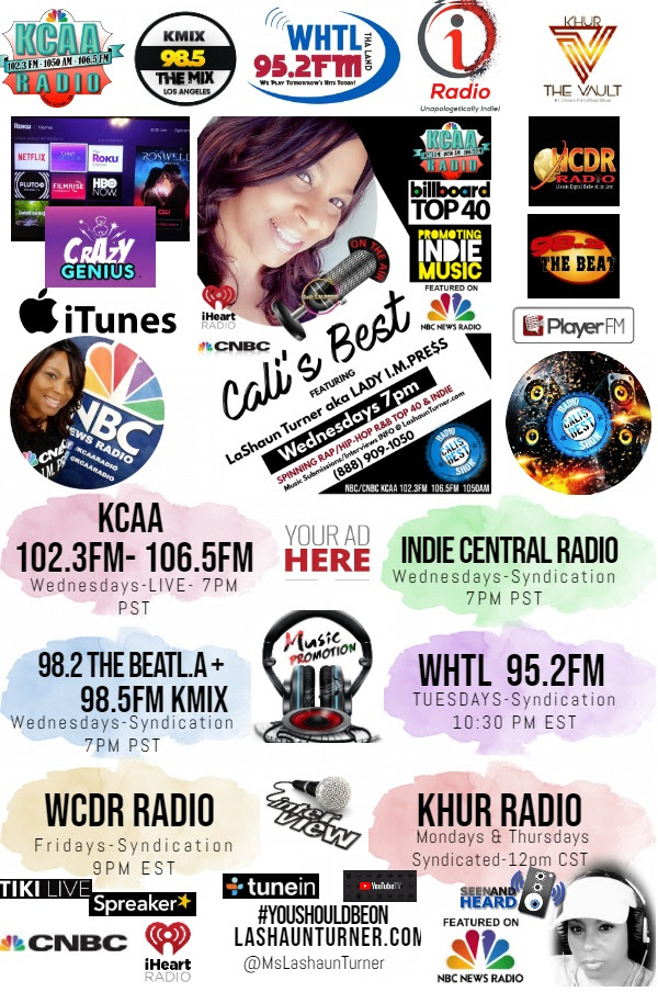 CALI'S BEST Now Airing on 15 Radio/TV Platforms #YouShouldBeOn