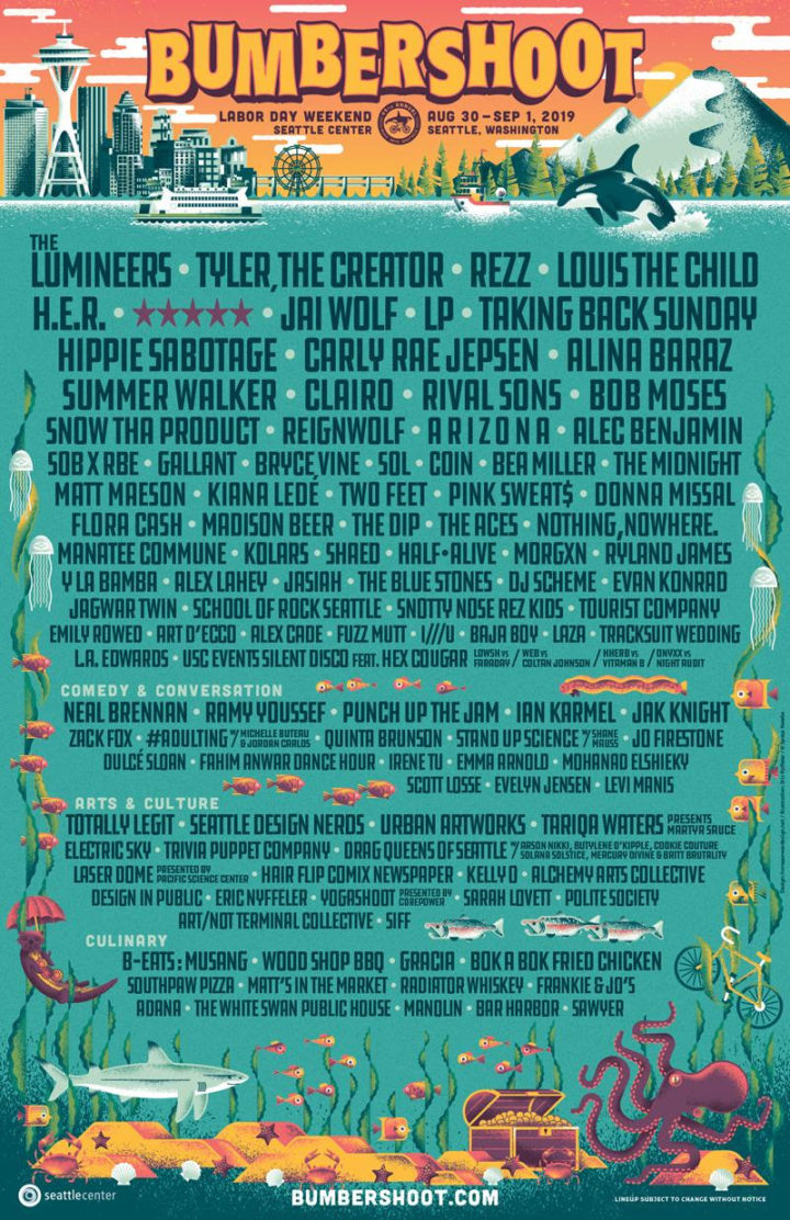 Bumbershoot Announces Day-By-Day Lineup! Single and Two Day Passes Available Now!