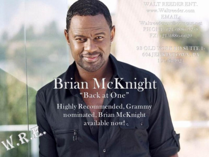 The latest news for you- BRIAN MCKNIGHT!! BOOK HIM NOW!!