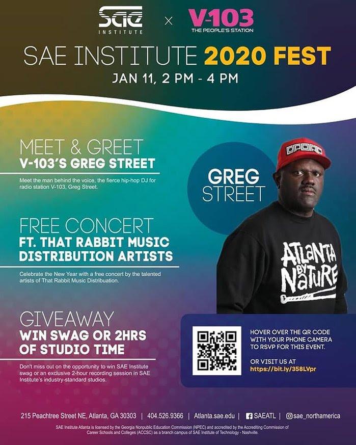 SAE Institute x V103 present  SAE 2020 FEST