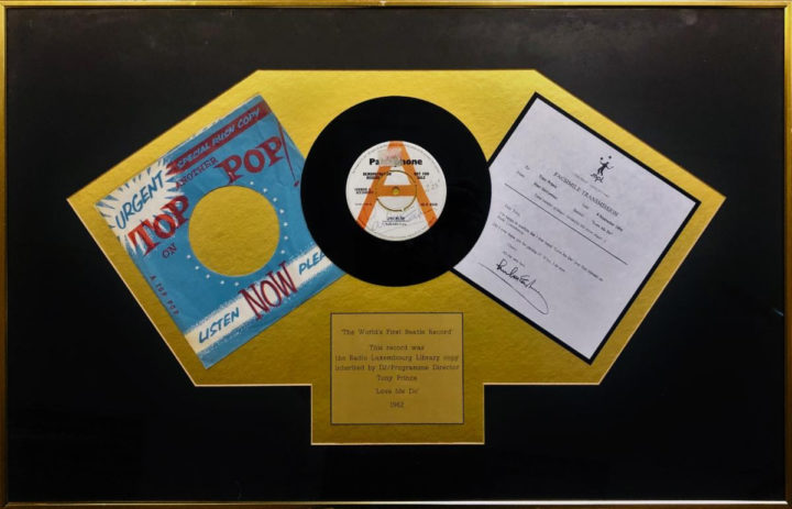 "DMC/MixMag Founder DJ Tony Prince to Auction Historic Memorabilia Including The Beatles Promo Copy of ""LOVE ME DO"" signed by Paul McCartney Across the Misspelling of his Name!"