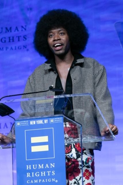 Jeremy O. Harris Accepts Equality Award at The 2020 Human Right Campaign Gala