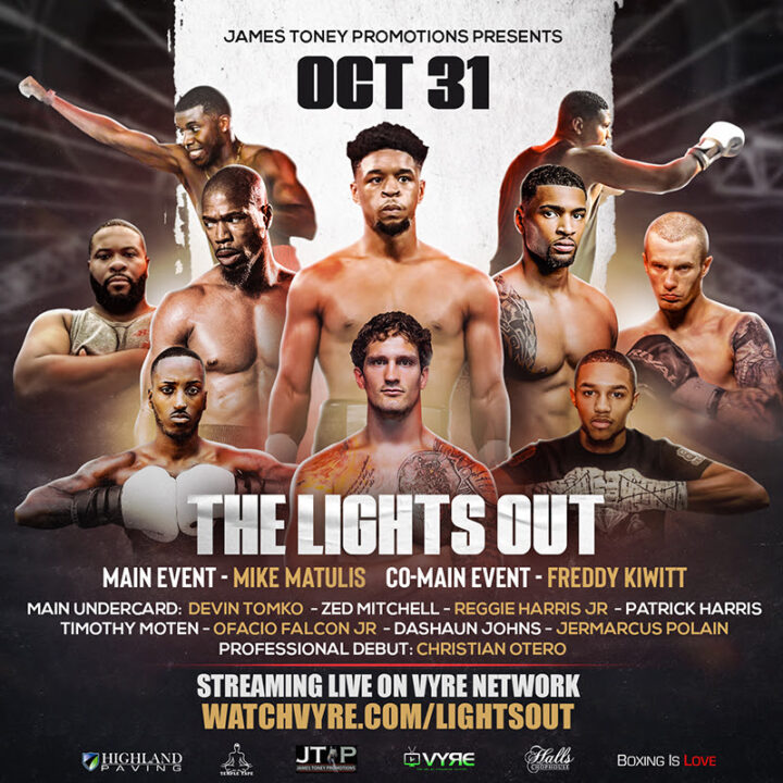 "Watch Vyre | Legendary Boxer James Toney & Vyre Sports Present: Boxing With The ""Lights Out"" 10/31/20"